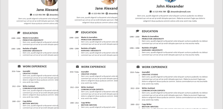Creative And Best Resume Templates For Word Software 4